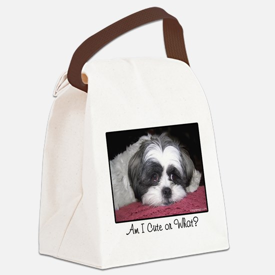 Cute Shih Tzu Dog Canvas Lunch Bag