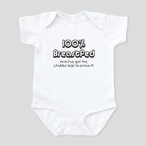 100% Breastfed (chubby legs) Infant Bodysuit