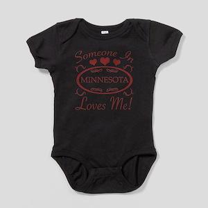 Somebody In Minnesota Loves Me Baby Bodysuit
