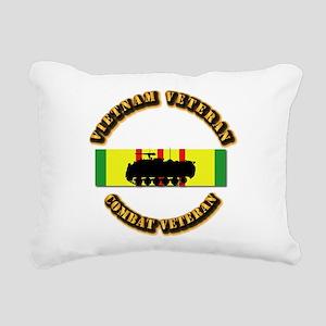 VN Vet - VCM - Mech Inf Rectangular Canvas Pillow