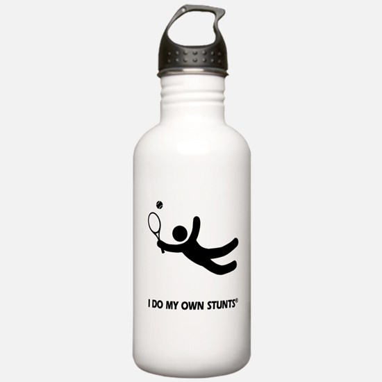 Tennis Funny My Own Stunts Water Bottle