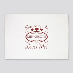 Somebody In Minnesota Loves Me 5'x7'Area Rug