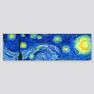 van gogh starry night Bumper Sticker