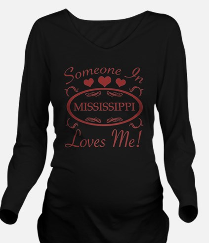 Somebody In Mississi Long Sleeve Maternity T-Shirt