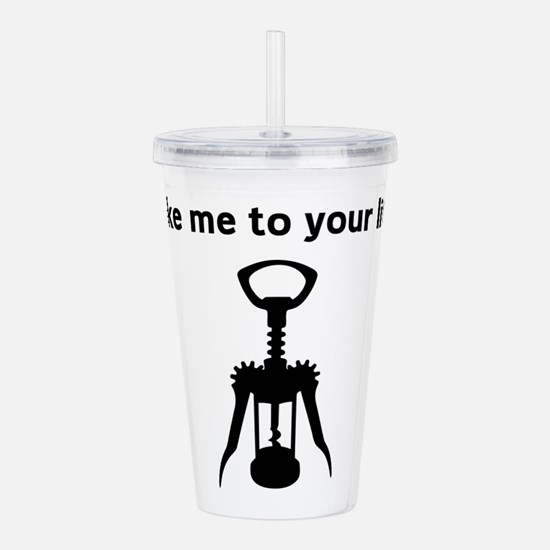 Take me to your litre Acrylic Double-wall Tumbler