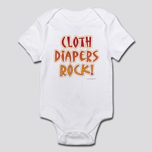 Cloth Diapering Infant Creeper
