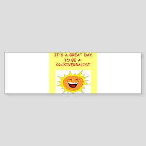 CROSSWORDS Sticker (Bumper)