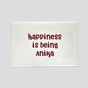 happiness is being Anika Rectangle Magnet