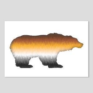 FURRY BEAR PRIDE BEAR CUTOUT Postcards (Package of