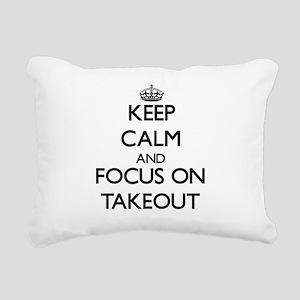 Keep Calm and focus on T Rectangular Canvas Pillow