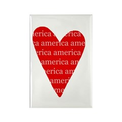 America Rectangle Magnet
