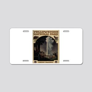 YELLOWSTONE5 Aluminum License Plate