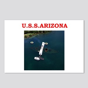uss arizona Postcards (Package of 8)