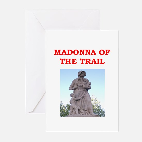 madonna of the trail Greeting Cards (Pk of 20)