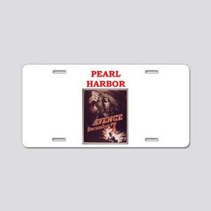 pearl harbor poster Aluminum License Plate