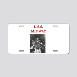 u.s.s.midway Aluminum License Plate