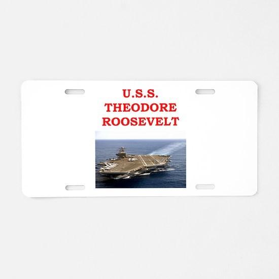 theodore roosevelt Aluminum License Plate