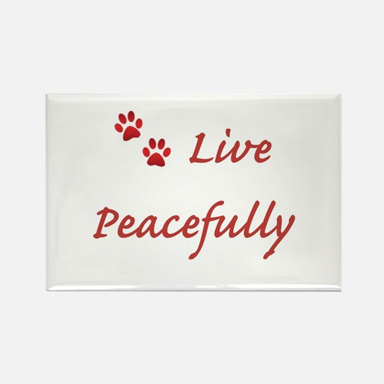 Live Peacefully Magnets
