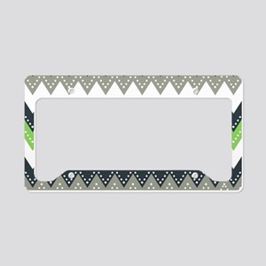 Fancy Chevron License Plate Holder