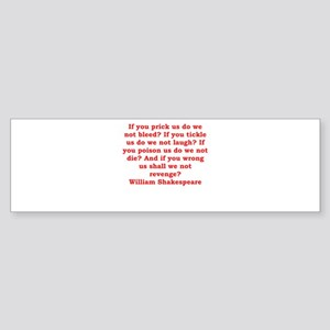 william shakespeare Sticker (Bumper)
