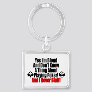 Blond Poker Players Keychains
