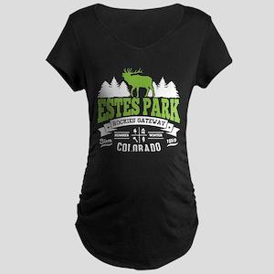 Estes Park Vintage Maternity Dark T-Shirt