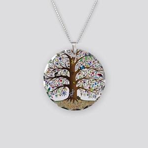 VLA Tree of Life Necklace Circle Charm