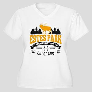 Estes Park Vintag Women's Plus Size V-Neck T-Shirt