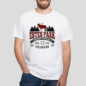 Estes Park Vintage White T-Shirt