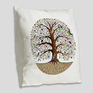 VLA Tree of Life Burlap Throw Pillow
