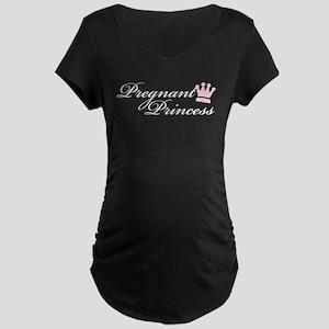 Pregnant Princess Maternity T-Shirt Black