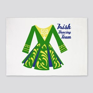 Irish Dance Team 5'x7'Area Rug
