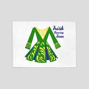Irish Dance Team 5'x7'Area Rug