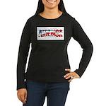America-W Women's Long Sleeve Dark T-Shirt
