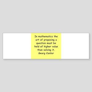 cantor3 Sticker (Bumper)