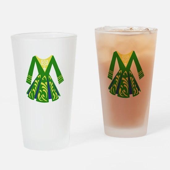 Celtic Dance Dress Drinking Glass