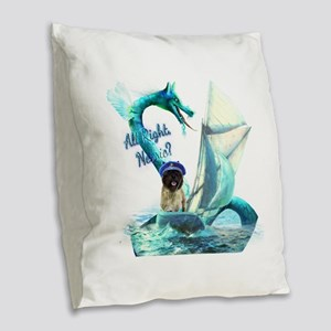 Cairn Terrier and Nessie Burlap Throw Pillow