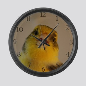 Singing Canary Large Wall Clock