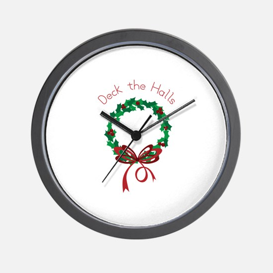 Deck The Halls Wall Clock