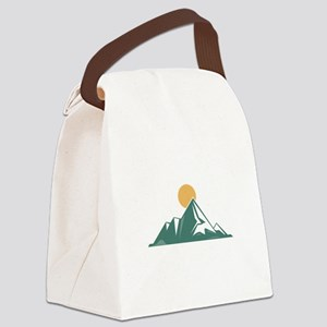 Sunrise Mountain Canvas Lunch Bag
