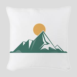Sunrise Mountain Woven Throw Pillow