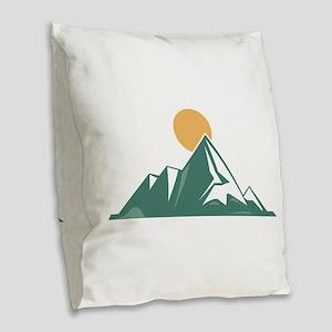 Sunrise Mountain Burlap Throw Pillow