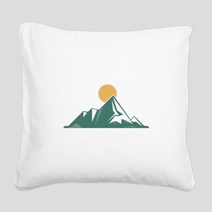 Sunrise Mountain Square Canvas Pillow