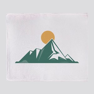 Sunrise Mountain Throw Blanket