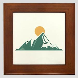 Sunrise Mountain Framed Tile