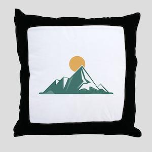 Sunrise Mountain Throw Pillow