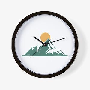 Sunrise Mountain Wall Clock