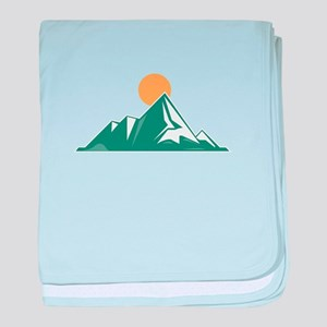 Sunrise Mountain baby blanket