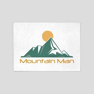 Mountain Man 5'x7'Area Rug