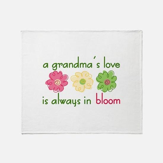 Grandmas Love Throw Blanket